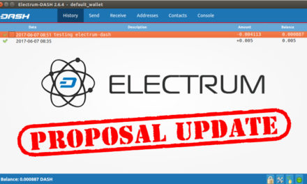 Dash Electrum Wallet Proposal Updates