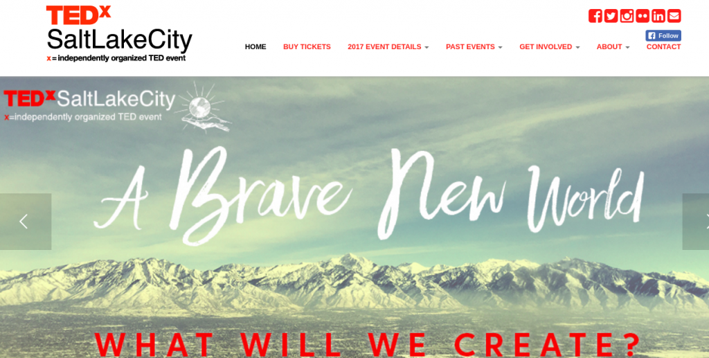 Dash sponsorship of Tedx Salt Lake City