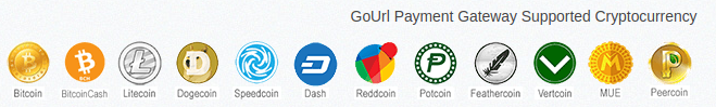 Gourl supported cryptos
