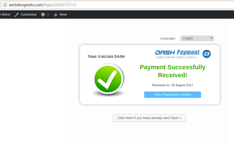 Gourl Payment Success