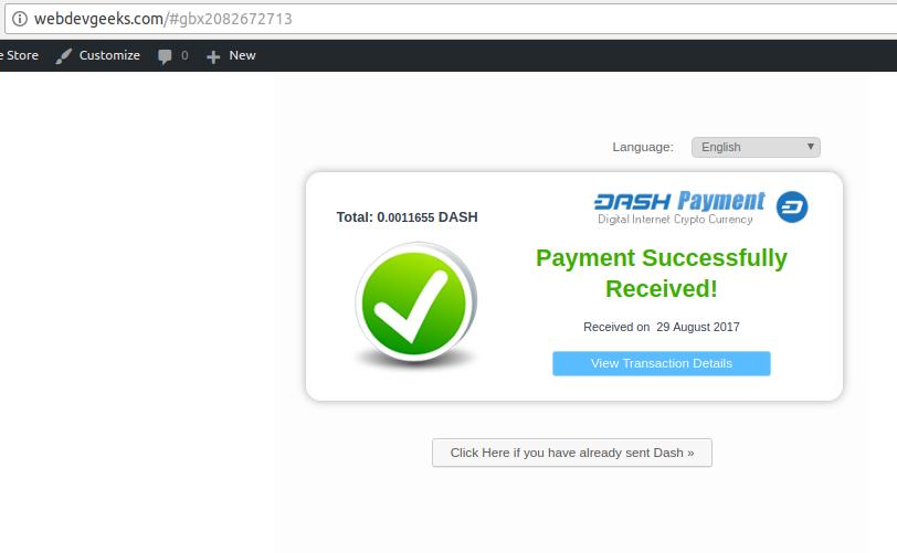 Gourl Payment Success
