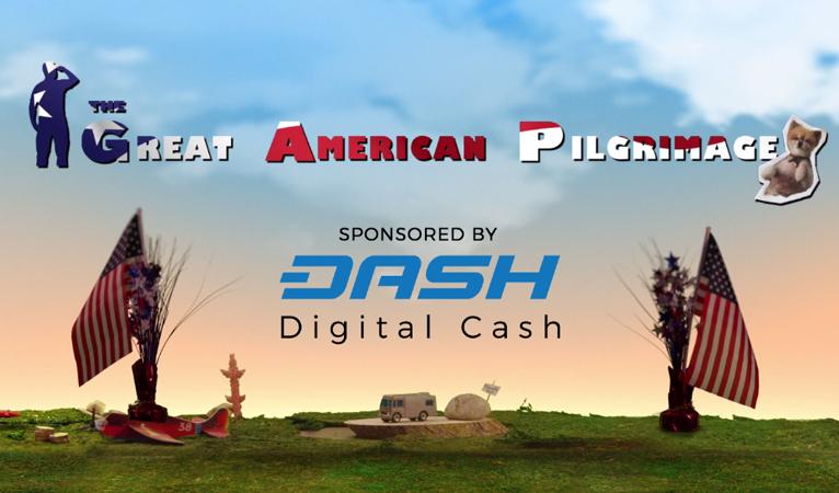 """Телешоу """"Великое Американское Паломничество."""" Спонсором является сеть DASH"""