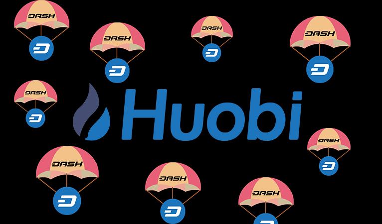 Huobi Pro Exchange startet 1000 Dash ($900000) Airdrop