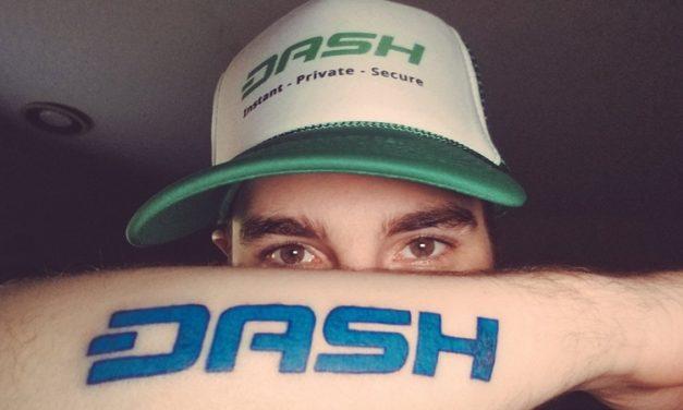 Crypto YouTuber Kenn Bosak Live Streams DASH Tattoo
