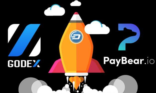 Биржа GODEX и платёжное решение Paybear добавили Dash