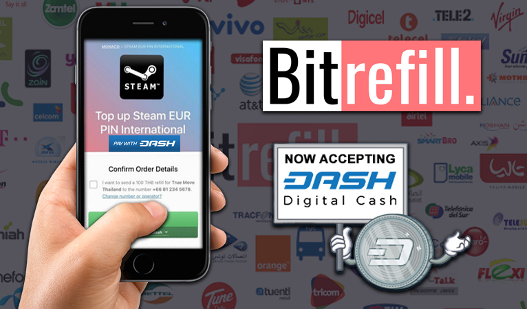 Dash Accepted By Leading Mobile Refill Provider Bitrefill