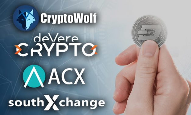 Dash был добавлен в приложение deVere Crypto, а также на биржи CryptoWolf, ACX и SouthXChange