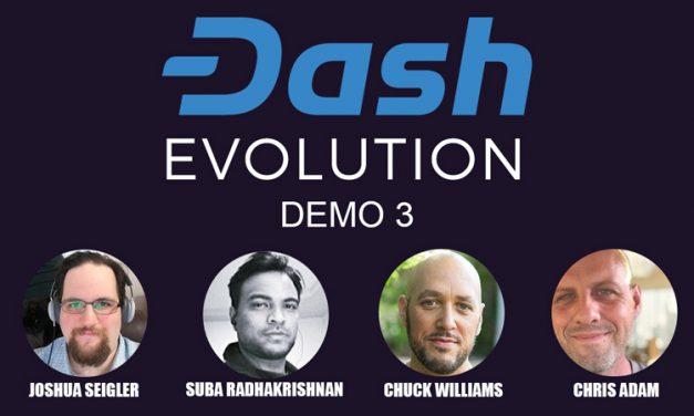 Dash Core Lança Terceira Demonstração da Evolution,  Plataforma Começa a Tomar Forma