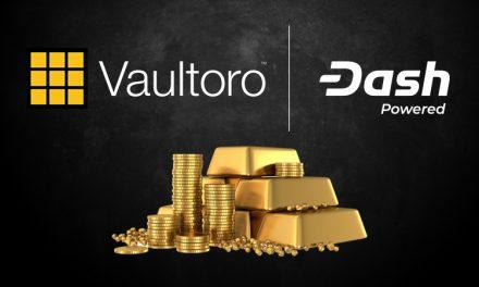 Работающая с золотом торговая площадка Vaultoro внедряет Dash