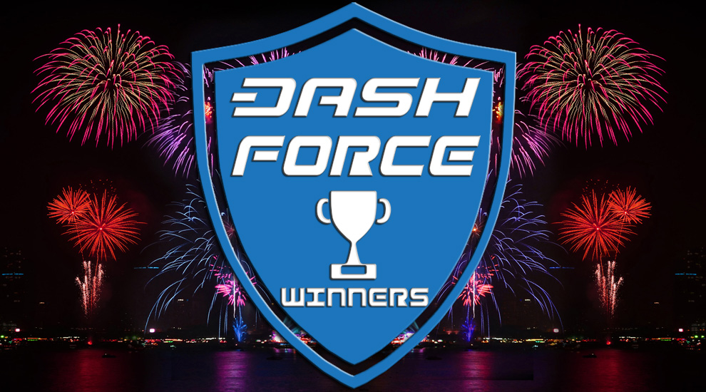 Dash Force Meetup Contest Winners: July