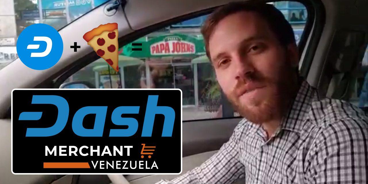 In einem venezolanischen Papa John's mit Dash bezahlen