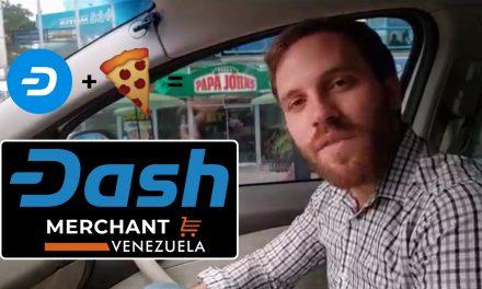 Покупка пиццы за Dash в Papa John's в Венесуэле