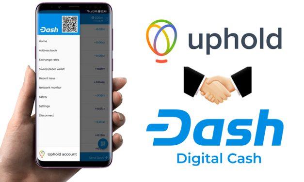 A Dash Agora está Disponível para Compra Diretamente da Carteira Oficial Graças a Parceria com o Uphold