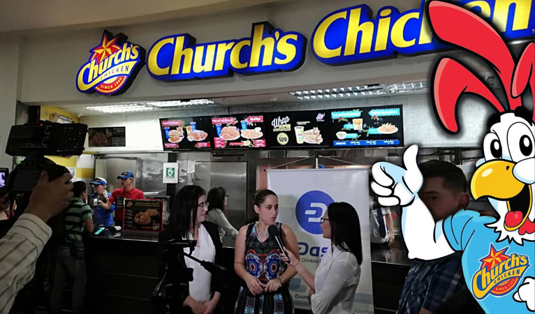 La chaîne de restaurants Church's Chicken au Venezuela accepte Dash