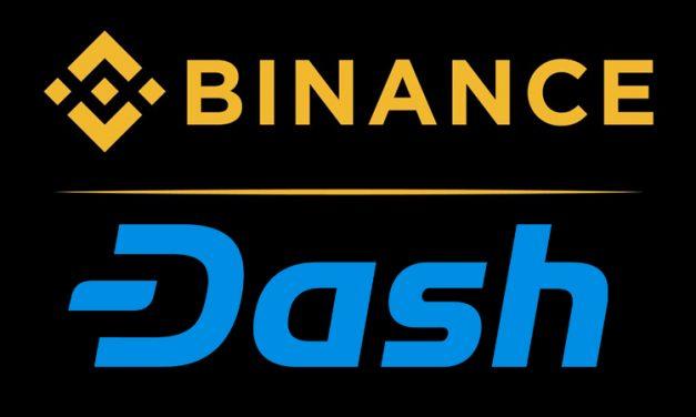 Биржа Binance добавляет новые торговые пары с Dash