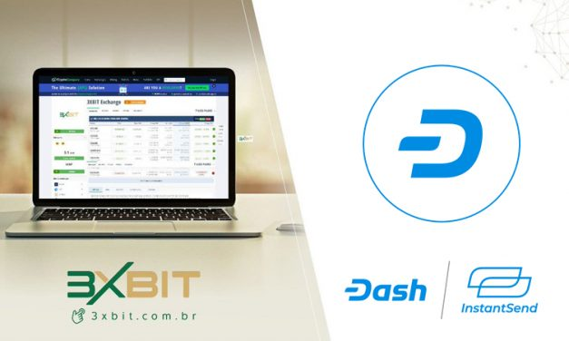 Casa de Câmbio Brasileira 3XBit Integra Dash com Suporte para InstantSend