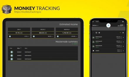 Portfolio Monkey Tracking Application Integrates Dash, Includes Masternode and Network Updates