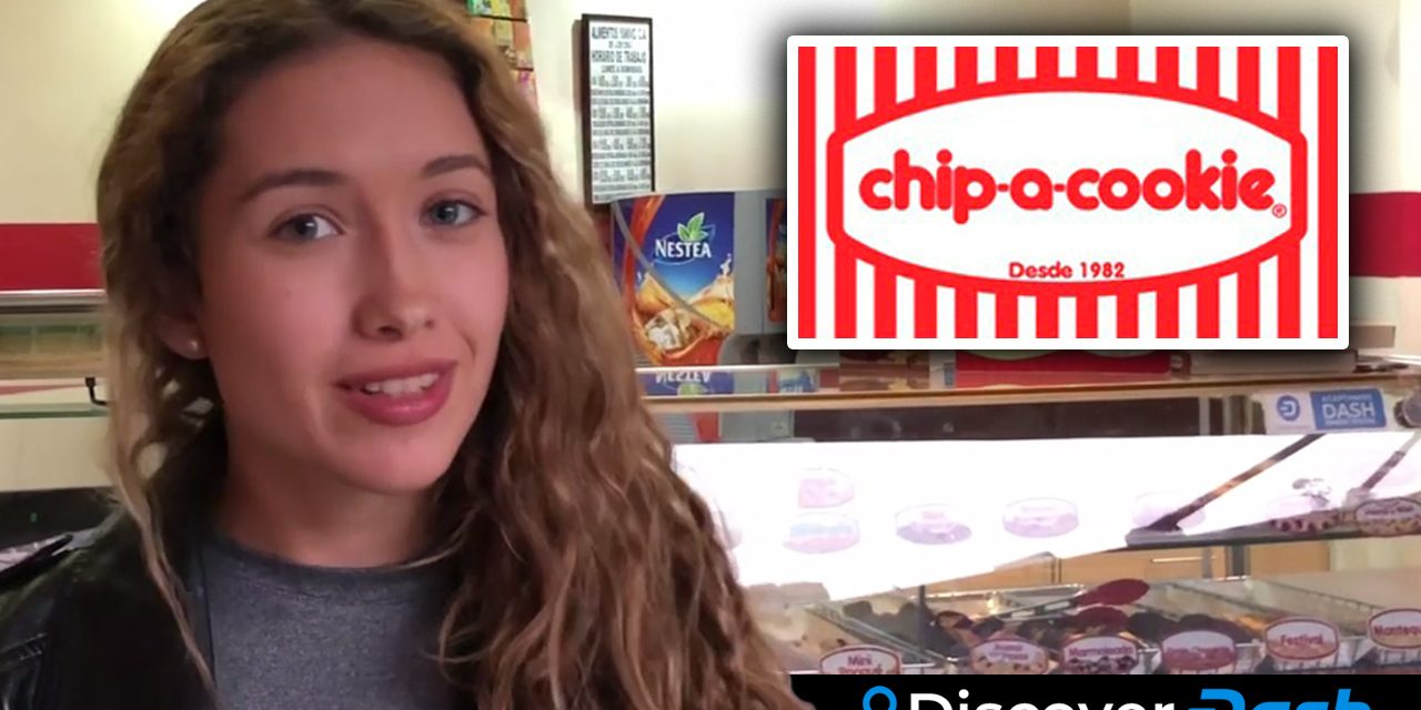 Isabel besucht Chip-a-Cookie und bezahlt mit Dash