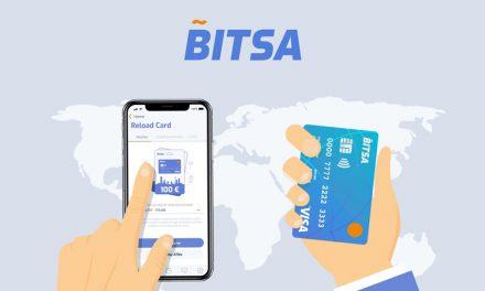 Bitsa Debitkarte integriert Dash