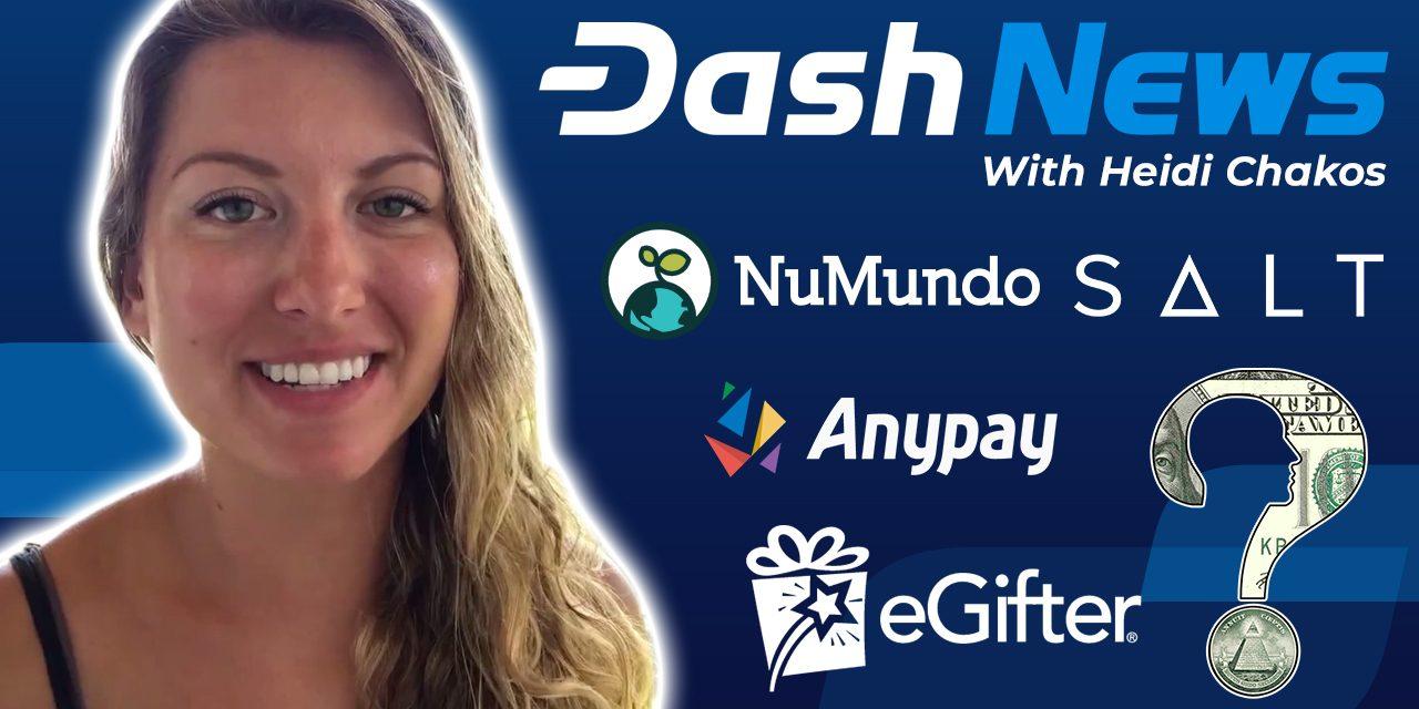 Dash News Rückschau – Dash Investment Foundation, eGifter, Salt Lending, NuMundo, Dash Core Q1 2019 Report & mehr!