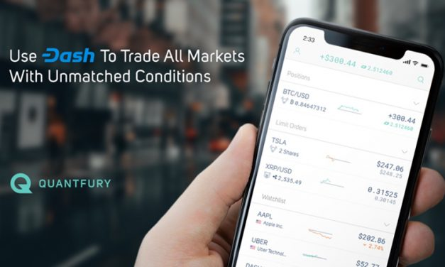 Quantfury Adiciona Dash, Permitindo que Holders Negociem Crypto, Ações, Commodities