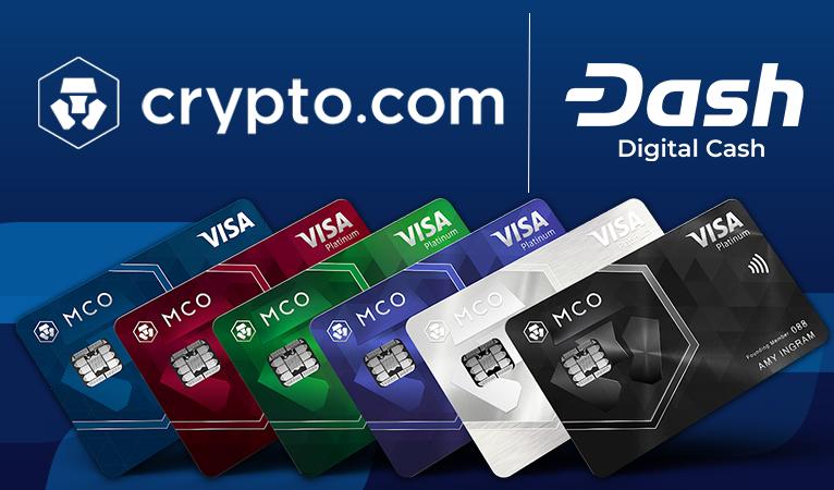 Plataforma Crypto.com Integra Dash, Incluindo Cartão de Débito e Sorteios de Dash
