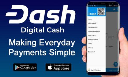 Uphold добавлен в кошелёк Dash на iOS