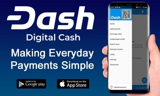 Uphold intégré dans le portefeuille Dash pour iOS suite au retrait des frais de retrait