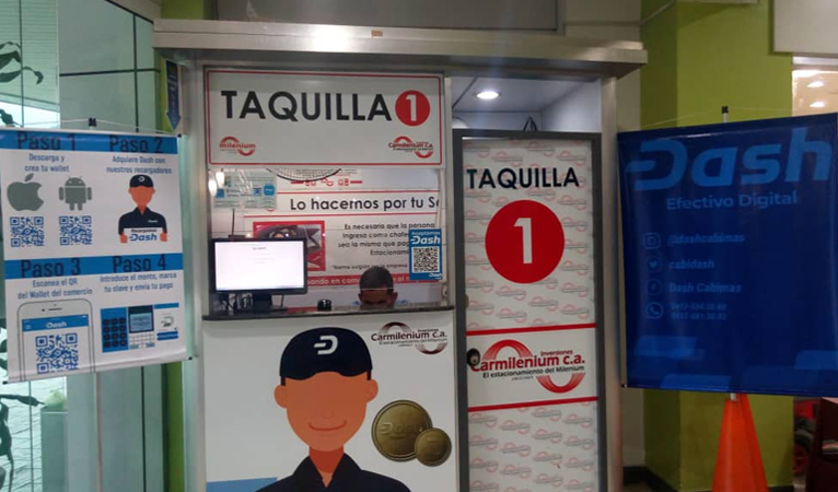 Dash Added for Parking Payments at Venezuelan Shopping Mall, Surpasses Fiat Payments