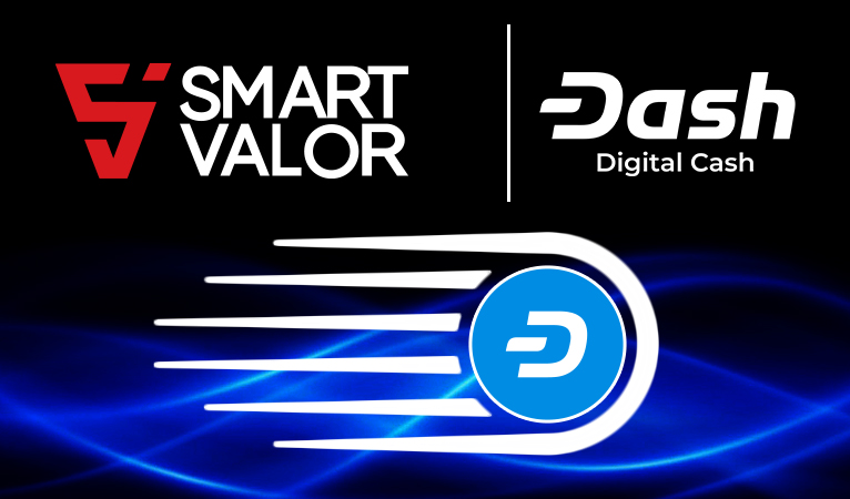 Swiss Cryptocurrency Exchange SMART VALOR Integrates Dash With Exclusive 10% Cash-Back Bonus