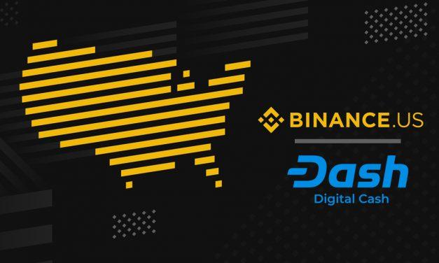Binance US ajoute Dash dont le paire de trading Dash/USD