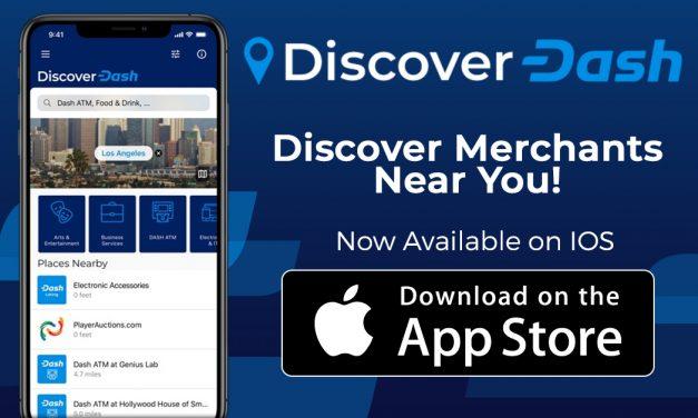 Découvrez l'application iOS Dash Merchant Directory disponible avec une fonction pour laisser des évaluations