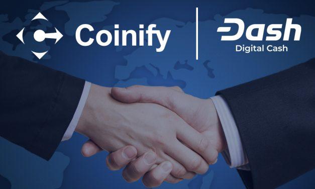 Coinify integriert Dash und ermöglicht Zehntausenden Händlern die Akzeptanz der digitalen Währung