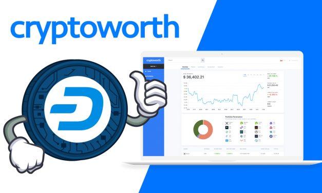 Cryptoworth integrieren Dash in ihren Portfolio-Dienst